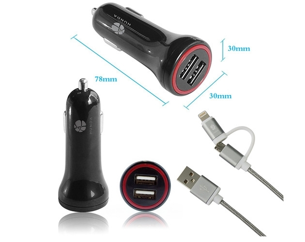 Small 12v Input Car Audio Usb Micro Car Charger 4 8 Amps